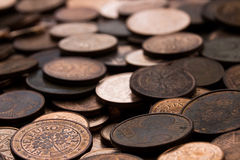 Euro cent coins Stock Image