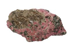 Eudialyte mineral isolated Royalty Free Stock Images