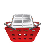 Euducation book in red basket vector Stock Images