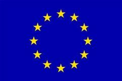 euEuropa flagga Royaltyfria Bilder