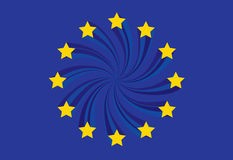 euflagga Royaltyfri Fotografi