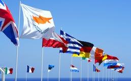 euflaggor Arkivfoton
