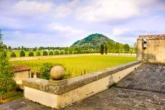 Euganean小山praglia葡萄园-帕多瓦-威尼托-意大利 免版税库存照片