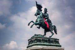 Eugene del monumento della Savoia Immagini Stock