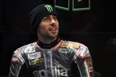 Eugene Laverty #58 on Aprilia RSV4 1000 Factory with Aprilia Racing Team Superbike WSBK Stock Images