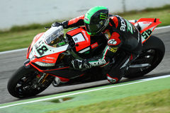 Eugene Laverty #58 on Aprilia RSV4 1000 Factory with Aprilia Racing Team Superbike WSBK Stock Photography