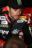 Eugene Laverty #58 on Aprilia RSV4 1000 Factory with Aprilia Racing Team Superbike WSBK Royalty Free Stock Photo