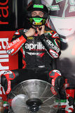 Eugene Laverty Aprilia RSV4 Aprilia Racing Team. Eugene Laverty rider  Aprilia RSV4 Aprilia Racing Team in the world Superbike Championship SBK Royalty Free Stock Image