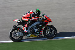 Eugene Laverty Aprilia RSV4 Aprilia Racing Team Royalty Free Stock Image
