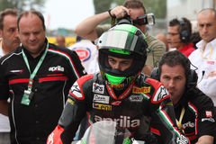 Eugene Laverty Aprilia RSV4 Aprilia Racing Team Royalty Free Stock Photography
