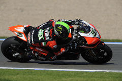 Eugene laverty on the aprilia, WSBK 2012 Royalty Free Stock Image