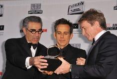 Eugene Levy,Ben Stiller. Eugene Levy (left), Ben Stiller & Martin Short at the 26th Annual American Cinematheque Awards Ceremony honoring Ben Stiller at the Royalty Free Stock Photo