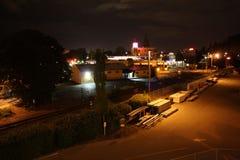 Eugene nachts lizenzfreie stockbilder