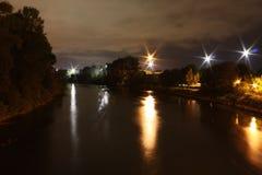 Eugene nachts stockfoto