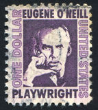 Eugene Neill. UNITED STATES - CIRCA 1965: stamp printed by United states, shows Eugene O Neill, circa 1965 royalty free stock photo