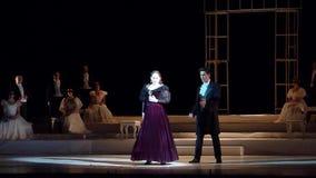 Eugene Onegin-opera stock videobeelden