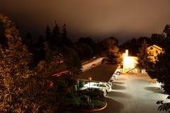 Eugene przy nocą obraz stock