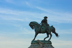 Eugene of Savoy's monument. At the Budapest castle Royalty Free Stock Images