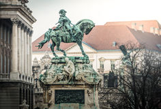 Eugene of Savoy's monument in Budapest. Stock Photos