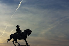 Eugene of Savoy's silhouette Royalty Free Stock Photo