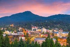 Eugene, skyline de Oregon, EUA fotos de stock