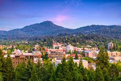 Eugene, Skyline Oregons, USA stockfotos