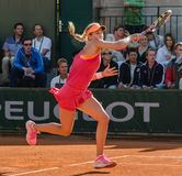 Eugenie Bouchard in second round match, Roland Garros 2014. Paris, France - May 30, 2014: Eugenie Bouchard of Canada during the 2nd round match at French Open Stock Photography