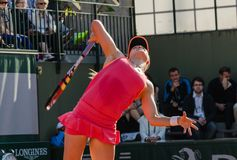 Eugenie Bouchard in second round match, Roland Garros 2014 Stock Photo