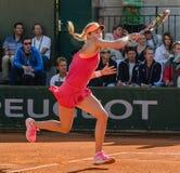 Eugenie Bouchard in tweede ronde gelijke, Roland Garros 2014 Stock Fotografie