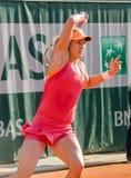 Eugenie Bouchard in tweede ronde gelijke, Roland Garros 2014 Stock Afbeeldingen