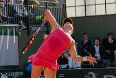 Eugenie Bouchard in tweede ronde gelijke, Roland Garros 2014 Stock Foto