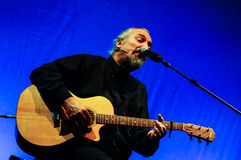 Eugenio Finardi Live Concert Photographie stock