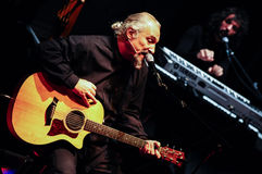 Eugenio Finardi Live Concert Royalty-vrije Stock Foto