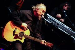 Eugenio Finardi Żywy koncert Zdjęcie Royalty Free