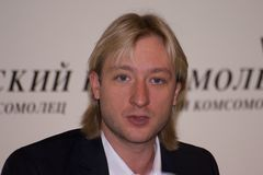 eugeniy plushenko 免版税图库摄影