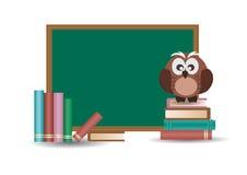 Eule und Schulbehörde Lizenzfreies Stockfoto