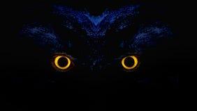 Eulen-Augen Stockbild