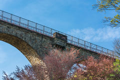 Eulenbach Bridge in Velbert. Old stone former railway bridge in Velbert, Germany. The name of the bridge is called Eulenbach bridge or Saubrücke Royalty Free Stock Photography