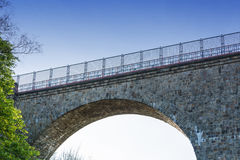 Eulenbach Bridge in Velbert. Old stone former railway bridge in Velbert, Germany. The name of the bridge is called Eulenbach bridge or Saubrücke Royalty Free Stock Images