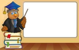 Eulenlehrer durch whiteboard Stockbilder
