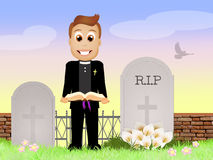 Eulogy in the cemetery Royalty Free Stock Photo