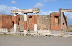 Eumachia Building portico on the Forum in Pompeii Royalty Free Stock Images