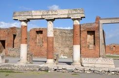 Eumachias Building portico on the Forum in Pompeii Stock Photos