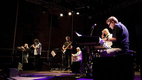 Eumir Deodato Europa Xpress. At Ancona Jazz Summer Festival 2010 stock photography