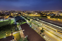 Eunos MRT Train Station at Dawn Stock Images