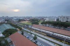 Eunos MRT Train Station at Sunrise stock image