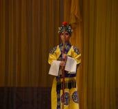 "The eunuch Deacon- Beijing Opera"" Women Generals of Yang Family"" Stock Photography"