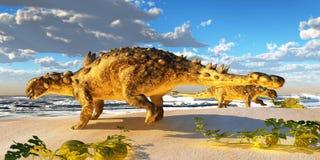 Euoplocephalus恐龙 图库摄影