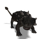 Euoplocephalus. 3D Render of the dinosaur Euoplocephalus With Clipping Path over white royalty free illustration