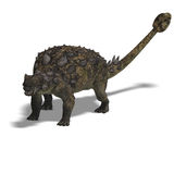 Euoplocephalus. 3D Render of the dinosaur Euoplocephalus With Clipping Path over white stock illustration
